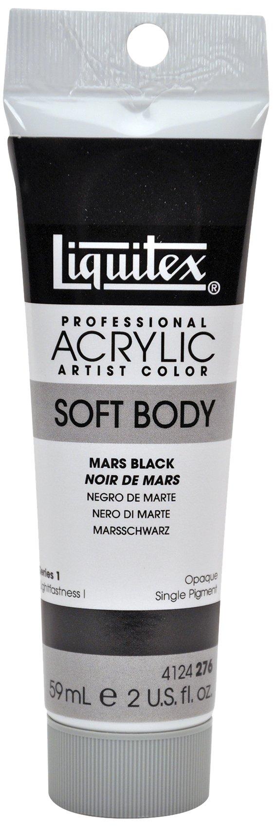 Liquitex 4124276 Professional Soft Body Acrylic Paint 2-oz Tube, Mars Black