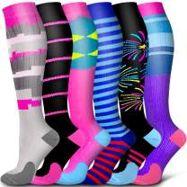 Copper Compression Socks Women & Men Circulation - Best for Running,Athletic Sports,Flight Travel