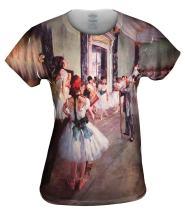 Yizzam- Edgar Degas - Die Tanzklasse (1875) -Tshirt- Womens Shirt