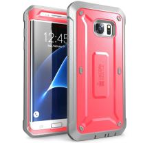 SUPCASE Unicorn Beetle Pro Series Case Designed for Galaxy S7 Edge, Full-Body Rugged Holster Case Without Built-in Screen Protector for Samsung Galaxy S7 Edge (2016 Release) (Pink/Gray)