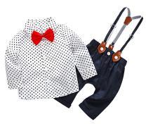 FEOYA Baby Boy Gentlemen Formal Wear Long Sleeve Outfits Rompers for 6-24 Months