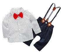 FEOYA Baby Boy Gentlemen Formal Wear Long Sleeve Outfits Rompers for 6-24 Months