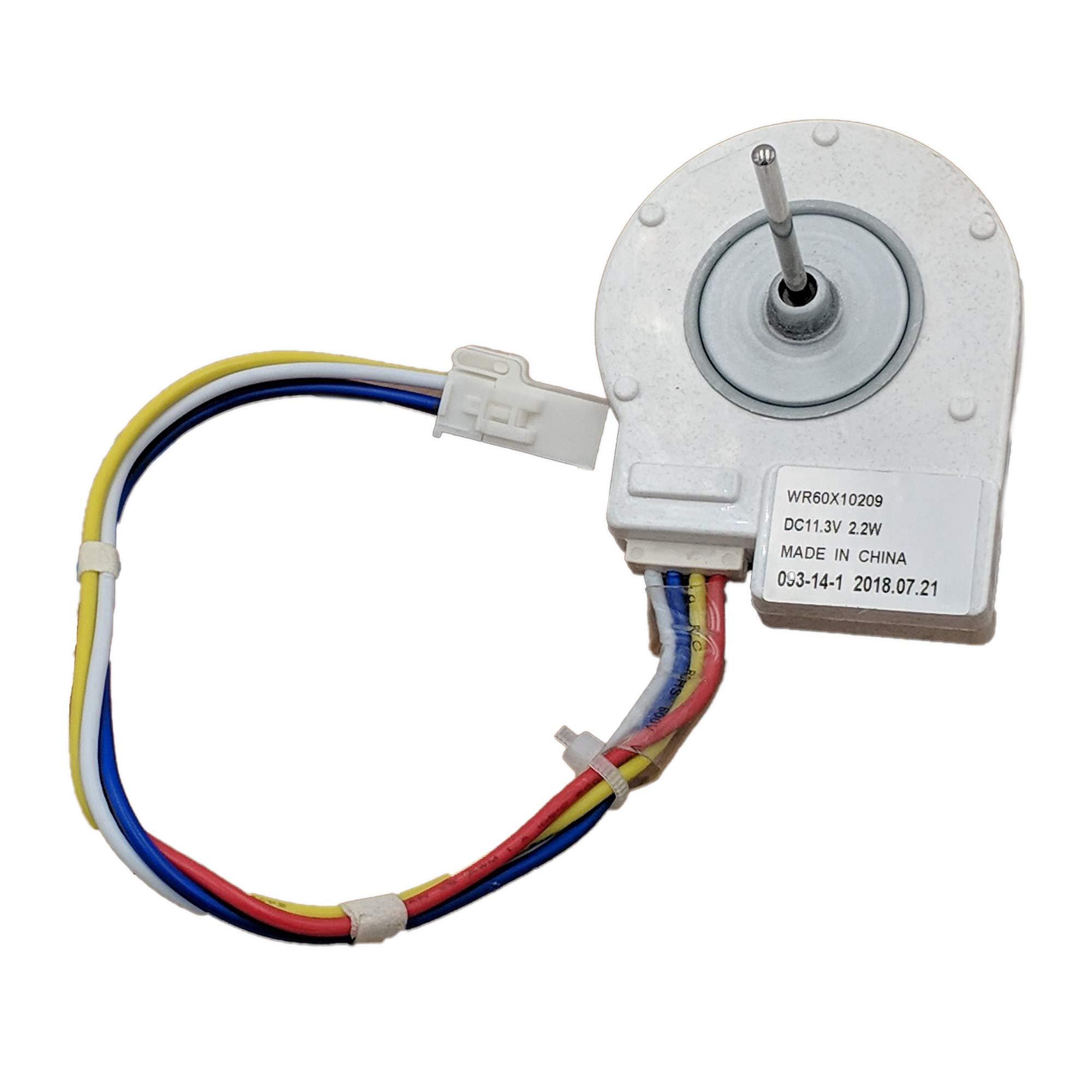 Supplying Demand WR60X10209 Refrigerator Condenser Fan Motor 12 Volt Fits WR60X10042