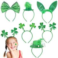 FUN LITTLE TOYS 6 Pcs St. Patrick's Day Decorations Set Irish Headband - One Size Fits All for St. Patrick's Day Accessories, Party Packs