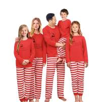 SUNNYBUY Family Christmas Pajamas Set Matching Men, Women Kids PJs Warm Tops Bottoms Classic Red Colors 08(Men S)