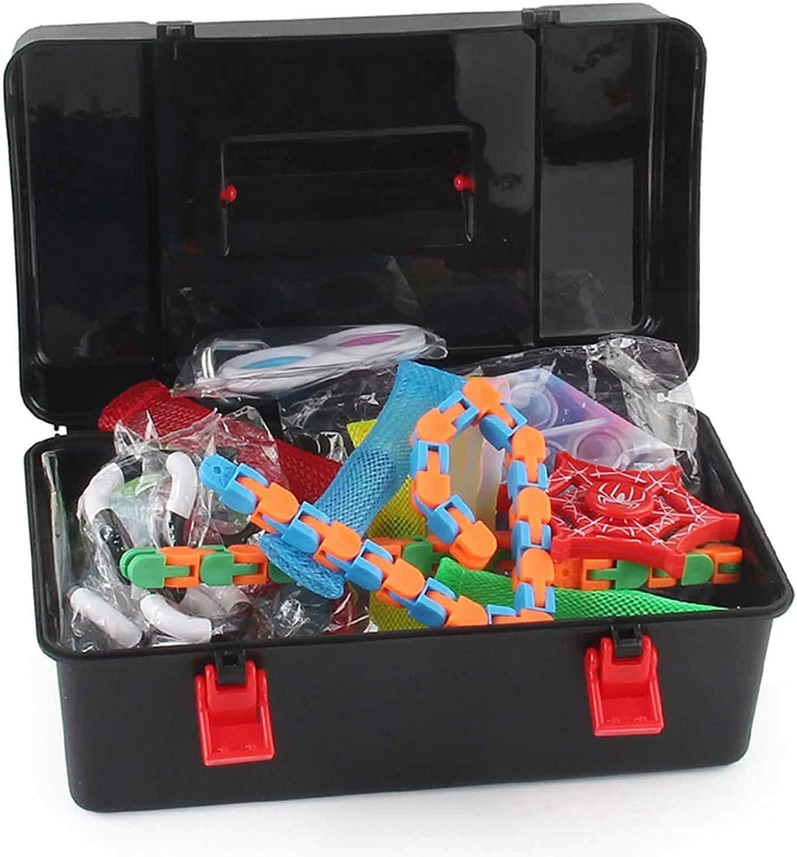 Yoskog Sensory Fidget Toys Set, Fidget Toys Pack, Cheap Fidget Toy Set, Anti-Stress Fidget Toy Set, Fidget Toy Set, Stress Relieve for Kids Adults Toy Set (Fidget Toy Pack-A)