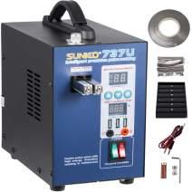 Mophorn 737U Pulse Spot Welder 0.2mm Battery Welding Machine 110V Battery Spot Welder and Soldering Station Portable Pulse Welding Machine for Battery Pack 18650 14500 Lithium Batteries