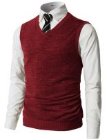 H2H Mens Casual Slim Fit Pullover Sweaters Vest Lightweight Knitted Thermal Basic Designed