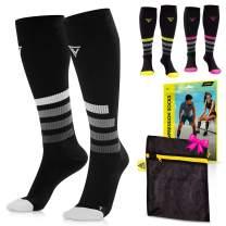 LANGOV Compression Socks For Women & Men Circulation (2 Pairs) - 20-30mmhg