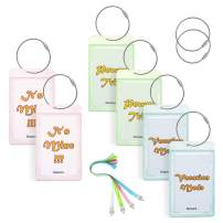 Gonex Luggage Tags with Name ID Card (6 Pack)