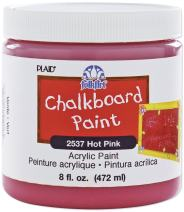 FolkArt Chalkboard Paint in Assorted Colors (8 Ounce), 2537 Hot Pink