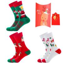 Women's Christmas Socks Funny Cozy Colorful Christmas Socks Unisex Knit Crew Xmas Socks for Girls Novelty Christmas Gifts