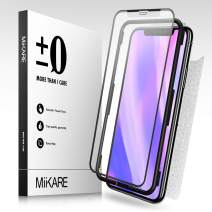 Tempered Glass Screen Protector for iPhone 11 Pro Max, MiiKARE Matte Glass Screen Protector for iPhone 11 Pro Max 6.5 inch Case-Friendly Scratch Resistant Front and Back with Installation Tray