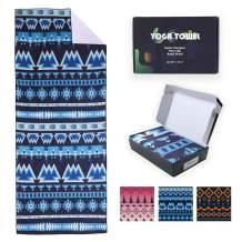 4Monster Hot Yoga Towel Yoga Mat Towel, Super Absorbent Mat Sized Ideal for Hot Yoga & Pilates, 30 x 72.5