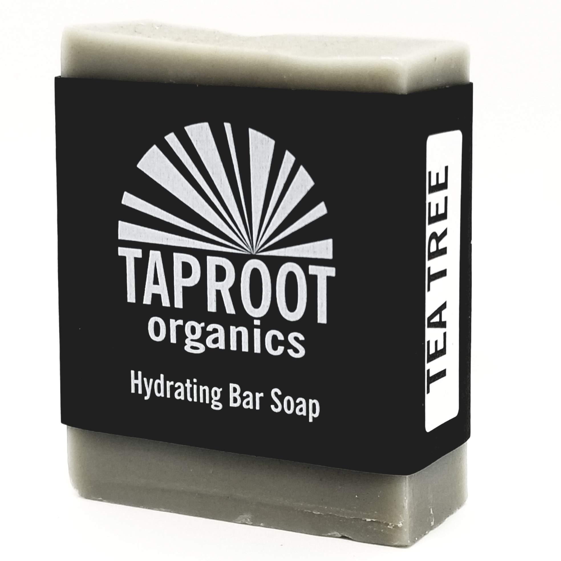 TAPROOT ORGANICS - Tea Tree Cold Process Bentonite Clay Bar Soap Handmade Body and Face bar for the ENTIRE FAMILY! (vegan)