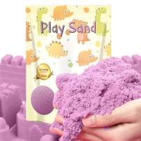 Dino Sand Refill Pack-3 Pound Moldable and Non Stick Moving Sand in a Resealable Bag Indoor Outdoor Activity Creative Educational Toys Sand (Purple Color)