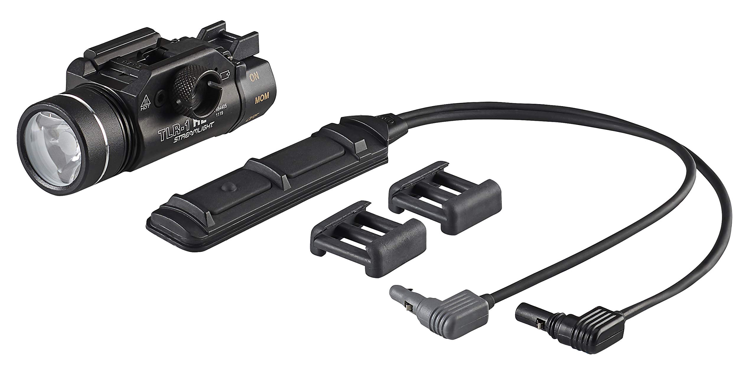 Streamlight 69889 TLR-1 HL Dual Remote Kit with Tail Cap Switch, Remote Pressure Switch, Standard Door Switch, Lithium Batteries and Mounting Clips, Black