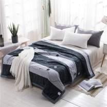 """BeddingWish Cartoon Blue Stripe Flower Cotton Fill Summer Quilt Set Twin (1 Quilt 68""""X88""""+2 Pillow case 20""""X30"""")"""
