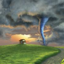 LYWYGG 10×10 ft Fairy Tale Tornado Photography Backdrop Studio Props for Newborn Photo Background Children Video Shooting CP-41