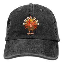 YISHOW Denim Thanksgiving Turkey Adult Vintage Washed Cotton Baseball Hat