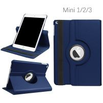 iPad Mini 1/2/3 Case - 360 Degree Rotating Stand Smart Cover Case with Auto Sleep/Wake Feature for Apple iPad Mini 1 / iPad Mini 2 / iPad Mini 3 (Navy) … …