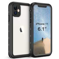 Waterproof Case for iPhone 11 (6.1 inch), Full Sealed IP68 Cover for Snowproof Dirtproof Shockproof Waterproof iPhone 11 Case, High Sensitive Touch Screen with Built-in Screen Protector(Grey/Black)