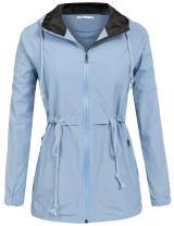 SoTeer Raincoat Womens Lightweight Hooded Waterproof Active Outdoor Rain Jacket Windbreaker S-XXL