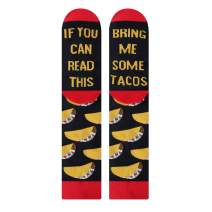 Moyel Taco Pizza Beer Coffee Sushi Socks, If You Can Read This Socks For Men