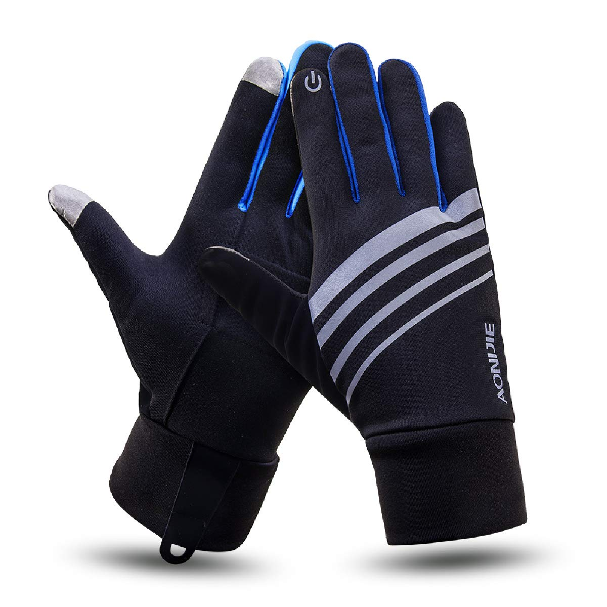 Azarxis Winter Thermal Running Gloves Touch Screen Windproof Warm Lightweight Glove for Men & Women Outdoor Cycling Driving Hiking