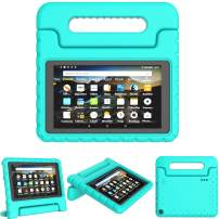 "TIRIN Case for All-New Fire 7 2019 Tablet - Light Weight Shock Proof Convertible Handle Stand Case for All-New Amazon Fire 7 Tablet(9th Generation - 2019 Release)(7"" Display), Turquoise"