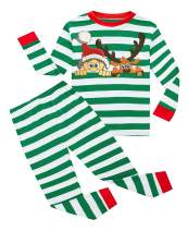 lymanchi Kid Boys Girls Christmas Pajamas Cotton Long Sleeve PJS Sleepwear Sets