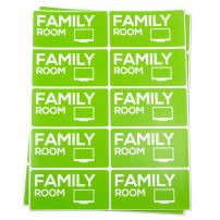 4 x 2 inch Family Labels, Moving Labels for Moving Boxes (Light Green, 10 Labels per Sheet, 300 Labels Total)