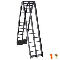 BestEquip Aluminum Ramps 9 FT x 11.25 Inch ATV Ramps 600LBS Capacity Truck Ramps for Car Motorcycle Loading Equipment with Attachment Hook and Serrated Rungs 1 Ramp
