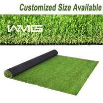 WMG GRASS Premium Artificial Grass, Easy to Clean Drainage Mat, 8' x 15' Artificial Turf for Dogs, Pet Turf Realistic Indoor/Outdoor Mat 8FTX15FT (120 Square FT)