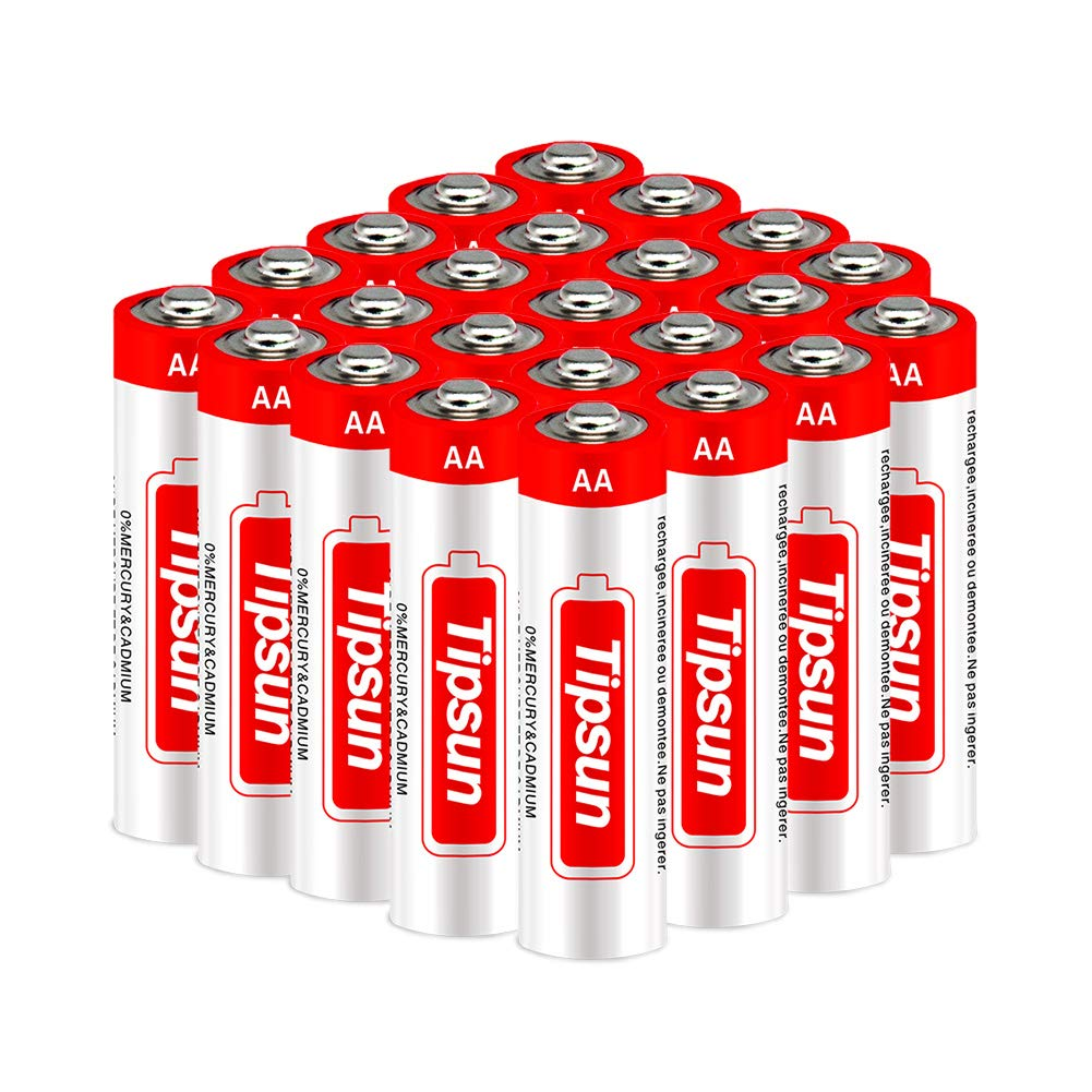 Tipsun AA 1.5V Alkaline Batteries-24 Pack, High Energy LR6 Dry Batteries Household Battery for Flashlight, Toys, Remote Control and Other Household Appliance