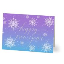 Hallmark Business New Year Card (Shimmering Snowflakes) (Pack of 25 Greeting Cards)