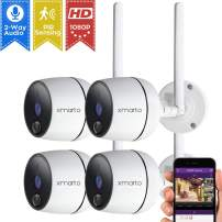 xmartO 1080P Full HD Wireless Security Camera (4 PCS 1080P PIR Wireless Cameras)