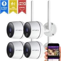 xmartO 1080P Full HD Wireless Security Camera (4 PCS 1080P PIR Wireless Cameras)