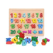 zoordo Wooden Numbers Puzzle Board Early Learning Educational Toy for Toddlers
