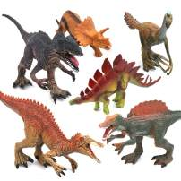 SubClap Dinosaur Figures Toys 6pcs, Kids Educational Realistic Solid PVC Dinosaur Figurines- Birthday for Toddlers 3 Years Old and Up