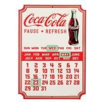 Open Road Brands Coca-Cola Calendar Embossed Sign w/Magnets- an Officially Licensed Product Great Addition to Add What You Love to Your Home/Garage Decor