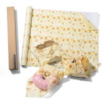 Glotoch Reusable Beeswax Food Wraps, Eco-Friendly Sustainable Reusable Durable BPA-Free, cover for Fruits & Vegetables and Bowls to Keep Fresh,16x60 inch Roll