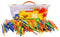 Straw Constructor STEM Building Toys 800 pcs-Colorful Interlocking Plastic Enginnering Toys- Fun- Educational- Safe for Kids- Develops Motor Skills-Construction Blocks- Best Gift for Boys and Girls …