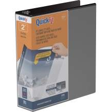 QuickFit View Binder, 2 Inch, Angle D Ring, Black (87031)