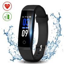 DoSmarter Health Tracker with Heart Rate Blood Pressure Monitor, Waterproof Fitness Tracker with Step Calories Counter and Sleep Monitor for Woman Man, Digital Pedometer Watch for Android iOS