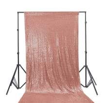 TRLYC 5FTx7FT Matt Champagne Blush Sequin Backdrop for Wedding Party