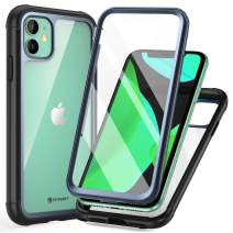 FITFORT iPhone 11 Case with Screen Protector Full-Body Rugged Heavy Duty Clear Bumper Case, Shock Drop Proof Impact Resist Extreme Durable Protective Case Compatible with iPhone 11 (6.1'')