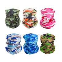 6 PCS Sun UV Protection Face Mask Neck Gaiter Scarf Sunscreen Breathable Bandana Fishing Running Cycling for Outdoors Sports