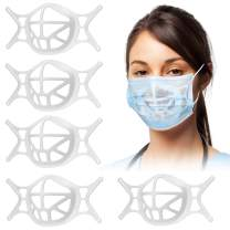 MTOP Upgraded 3D Silicone Bracket for Mask[Reusable],Breathing Cup,Keep the Fabric Away From the Mouth,Create More Breathing Space,Prevent the Fabric from Falling off,Lipstick Protector (5PCS, White)