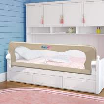 """BabyElf Bed Rail for Toddlers 47"""" Swing Down Bedrail Guard"""